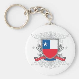 Chile Shield Keychain