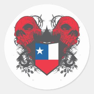 Chile Skulls Classic Round Sticker