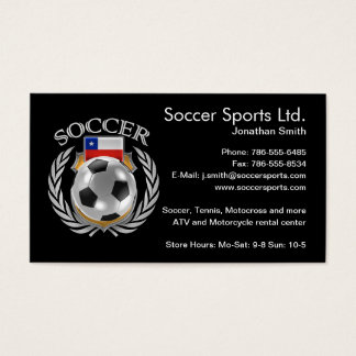 Chile Soccer 2016 Fan Gear Business Card