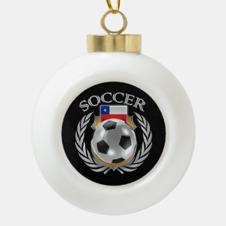 Chile Soccer 2016 Fan Gear Ceramic Ball Christmas Ornament