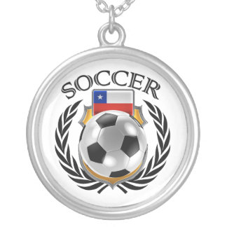 Chile Soccer 2016 Fan Gear Silver Plated Necklace