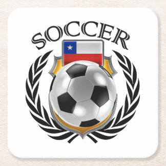 Chile Soccer 2016 Fan Gear Square Paper Coaster