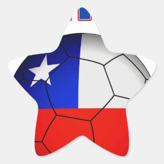 Chile Soccer 5025 Star Sticker