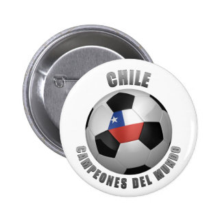 CHILE SOCCER CHAMPIONS PINBACK BUTTONS