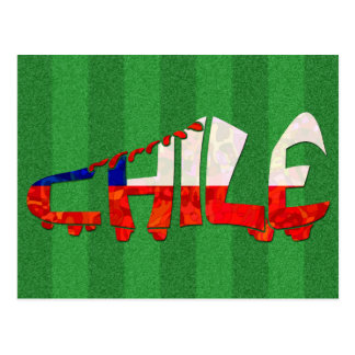 Chile Soccer Cleat Calligram Postcard