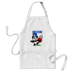 Apron with Chile Football Panda design