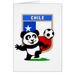 Greeting Card with Chile Football Panda design