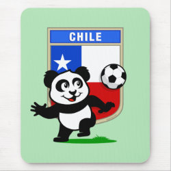 Mousepad with Chile Football Panda design
