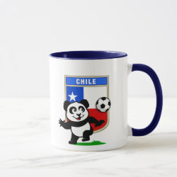 Combo Mug with Chile Football Panda design
