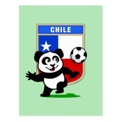 Postcard with Chile Football Panda design