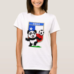 Women's Basic T-Shirt with Chile Football Panda design