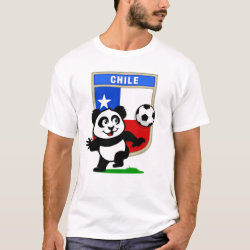 Men's Basic T-Shirt with Chile Football Panda design