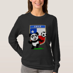 Chile Football Panda Women's Basic Long Sleeve T-Shirt