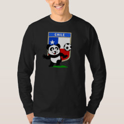 Men's Basic Long Sleeve T-Shirt with Chile Football Panda design