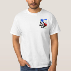 Men's Crew Value T-Shirt with Chile Football Panda design