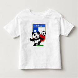Toddler Fine Jersey T-Shirt with Chile Football Panda design