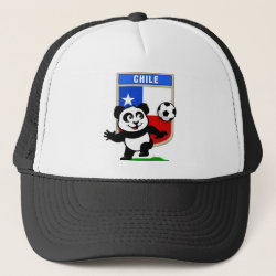 Chile Football Panda Trucker Hat