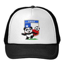 Trucker Hat with Chile Football Panda design