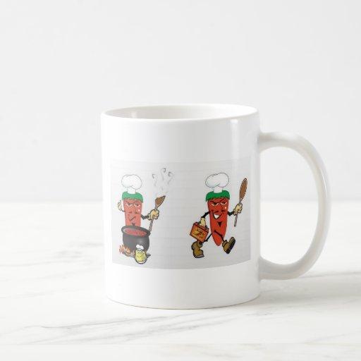 chile-sopa-vector taza de café