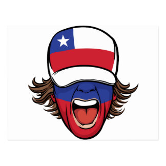 Chile sports fan postcard
