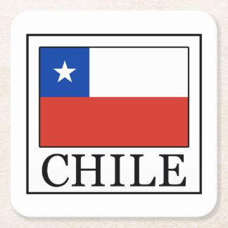Chile Square Paper Coaster