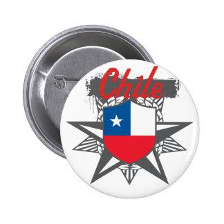 Chile Star Pinback Button