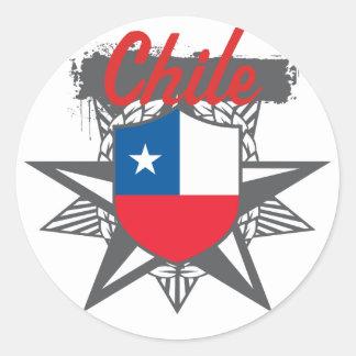Chile Star Classic Round Sticker