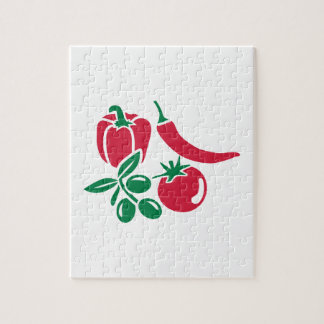 Chile verde oliva del paprika del tomate de las puzzle