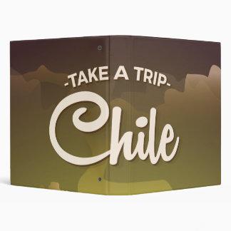 Chile Volcano vintage travel poster 3 Ring Binder