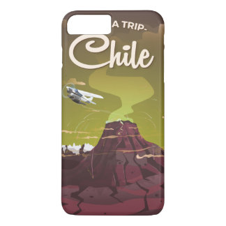 Chile Volcano vintage travel poster iPhone 8 Plus/7 Plus Case