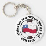 Chile vs The World Key Chain
