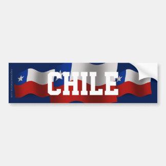 Chile Waving Flag Bumper Sticker