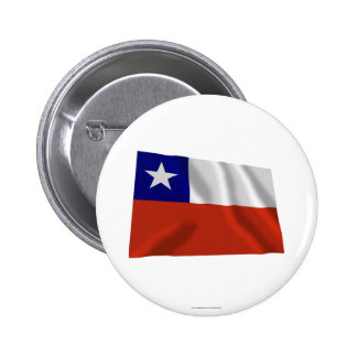 Chile Waving Flag Pinback Buttons