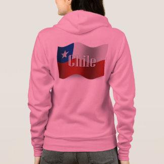 Chile Waving Flag Hoodie