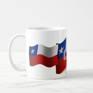 Chile Waving Flag Classic White Coffee Mug