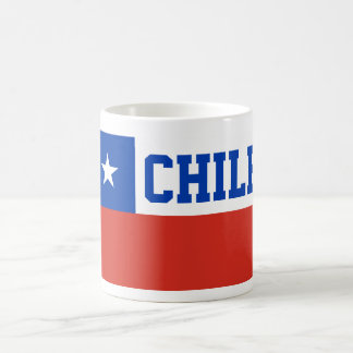 Chile World Flag Text Classic White Coffee Mug