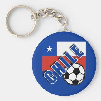 CHILE World Soccer Fan Tshirts Basic Round Button Keychain