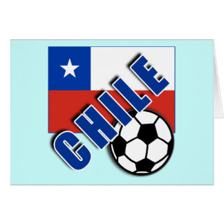 CHILE World Soccer Fan Tshirts Card
