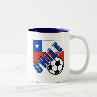 CHILE World Soccer Fan Tshirts Two-Tone Coffee Mug