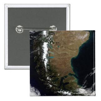 Chile y la región patagona de la Argentina Chapa Cuadrada 5 Cm