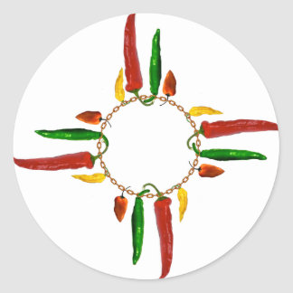 Chile Zia Classic Round Sticker