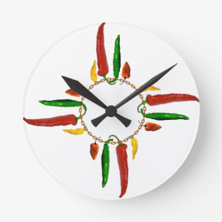 Chile Zia Round Clock