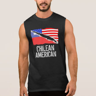 Chilean American Flag Sleeveless Shirt