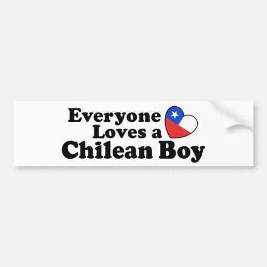Chilean Boy Bumper Sticker