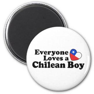 Chilean Boy Fridge Magnet