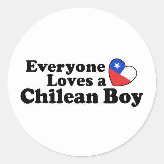 Chilean Boy Round Sticker