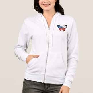 Chilean Butterfly Flag Hoodie