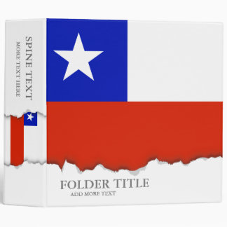 Chilean Flag Binder
