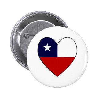 Chilean Flag Heart Valentine Pins