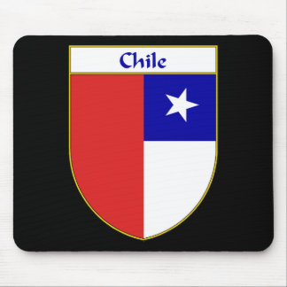 Chilean Flag Shield Mouse Pad